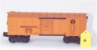 1006: 2454 PRR Box Car, Orange Door, No BR Logo, VG
