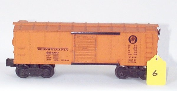 1006: 2454 PRR Box Car, Orange Door, No BR Logo, VG