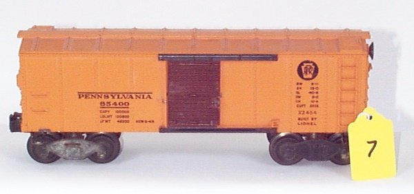 1007: 2454 PRR Box Car, Flying Shoe Trks., Brown Door,