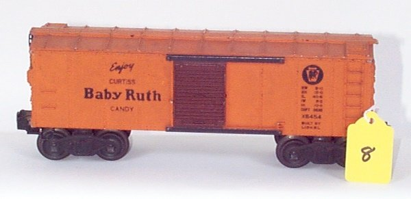 1008: 6454 PRR Box Car, Brown Door w/BR Logo, Chip Off
