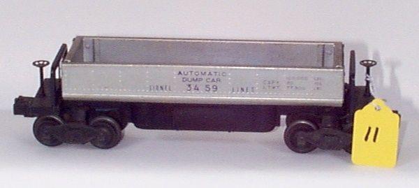3459 Silver Dump Car, VG/EX