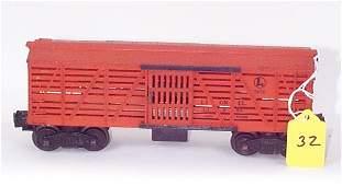 1032: 3656 Opr. Cattle Car, Black Letters, Paint Chips,
