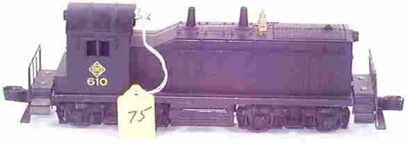 1075: 610 Erie NW-2 Switcher w/Raised Number Board on S