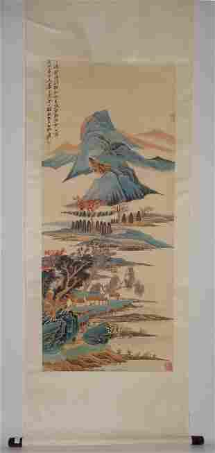 Dreamland of Songjiang Attributed to Zhang Daqian