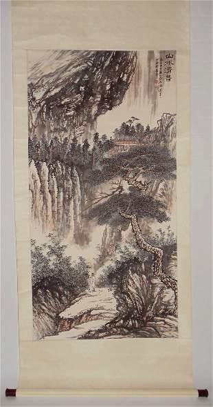 Deep in Mountain Attributed to Zhang Daqian