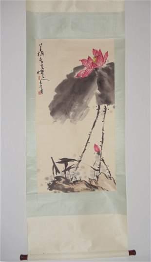 Blooming Lotus Attributed to Pan Tianshou