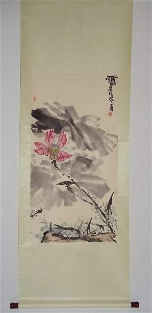 Lotus in Summer Attributed to Pan Tiashou