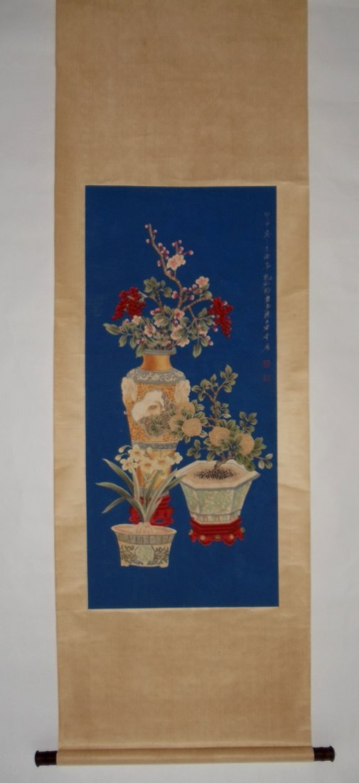 Blooming Flowers Attributed to Kong Xiaoyu