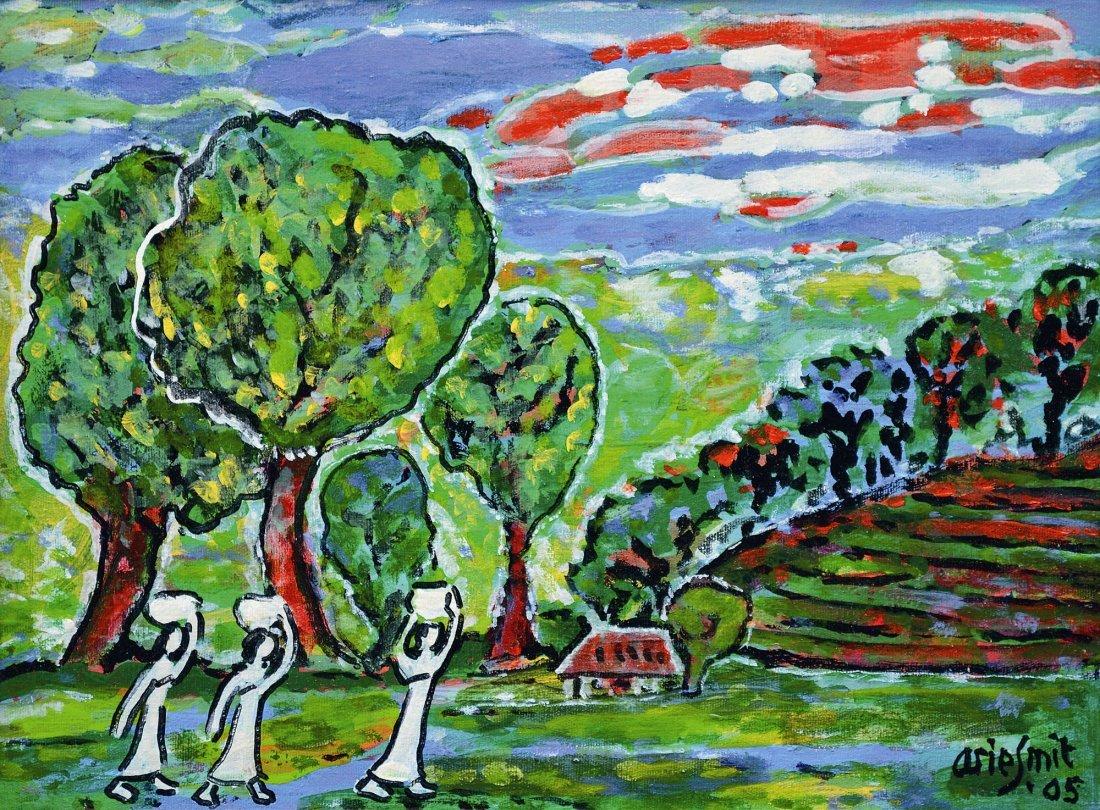Arie Smit, Three Women in a Landscape
