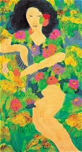 Walasse Ting, Beauty Amongst Flower