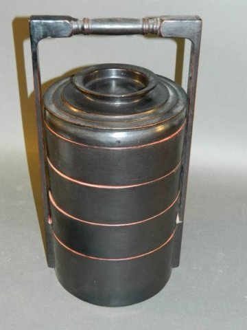 Lacquered Food Container - 4 Tier