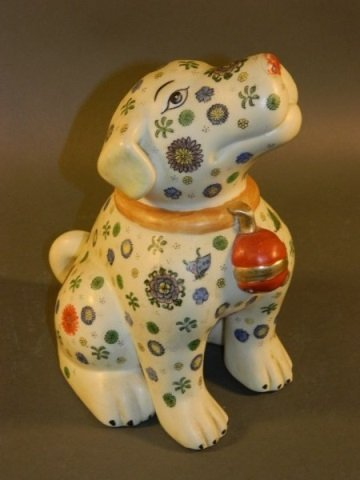 Chinese Pottery Dog with Seal Mark on Bottom