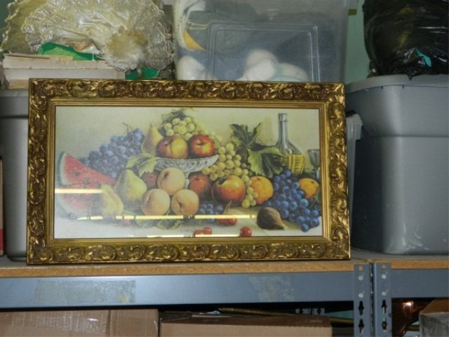 Framed Lithograph Print of Fruit