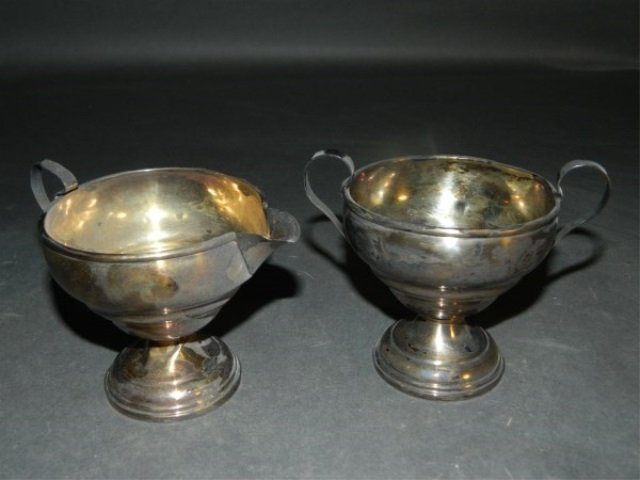 Weighted Sterling Cream and Sugar Set