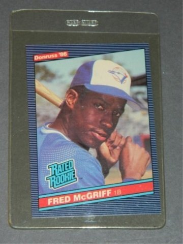 1986 Donruss Fred McGriff Rookie Card