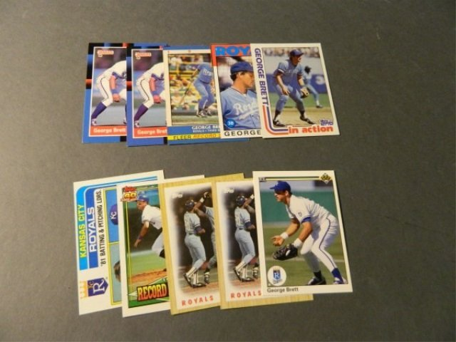 Lot of 10 George Brett Cards