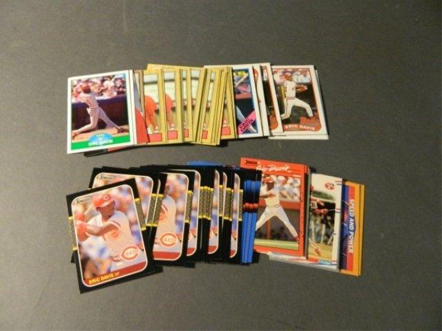 Lot of 50+ Eric Davis Cards
