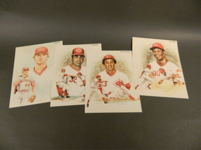 Lot of 4 Cinncinati Reds Prints by Todd Alan Gold