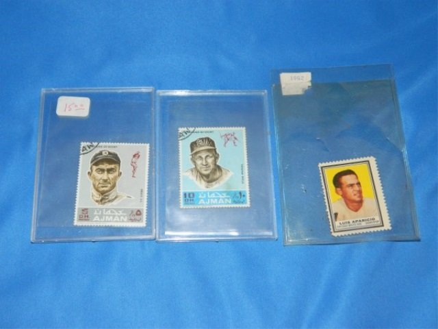 Lot of 3 Baseball Stamps