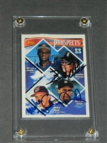 Rare Autographed 1994 Topps Prospects Derek Jeter