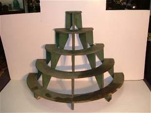 Early Handmade Circular Display Shelf Original Pain
