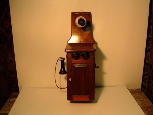 24: Tall Crank Telephone By Western Electric
