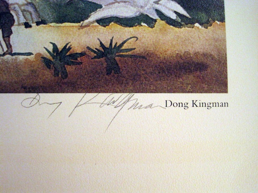 Signed & Matted Dong Kingman Print  14 x 16 3/4 - 2