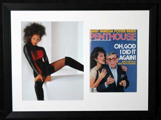 Framed Vanessa Williams Amp George Burns Penthouse Cover