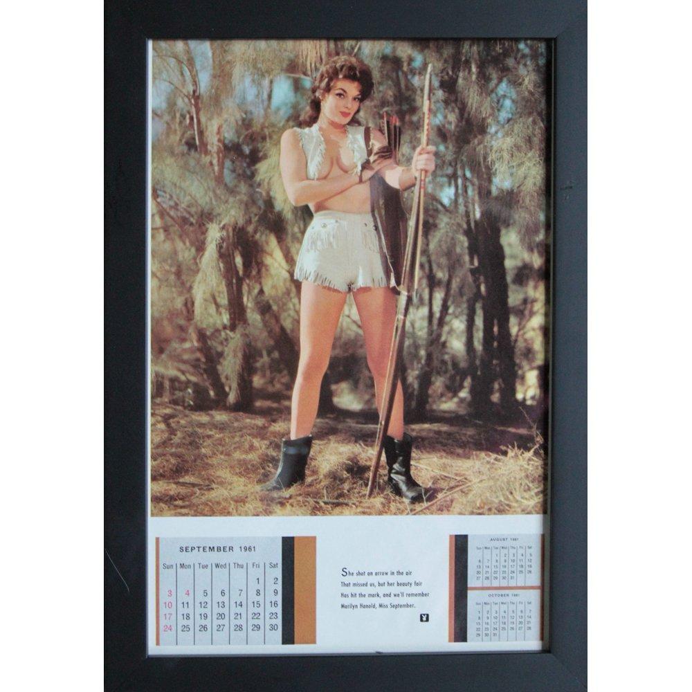 Framed Marilyn Hanold Sept 1961 Orig Playboy Cal Page