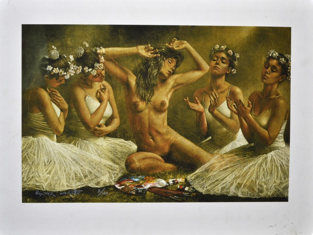 Walter Girotto Signed Ltd Ed 9/100 Lithograph 22x16.5