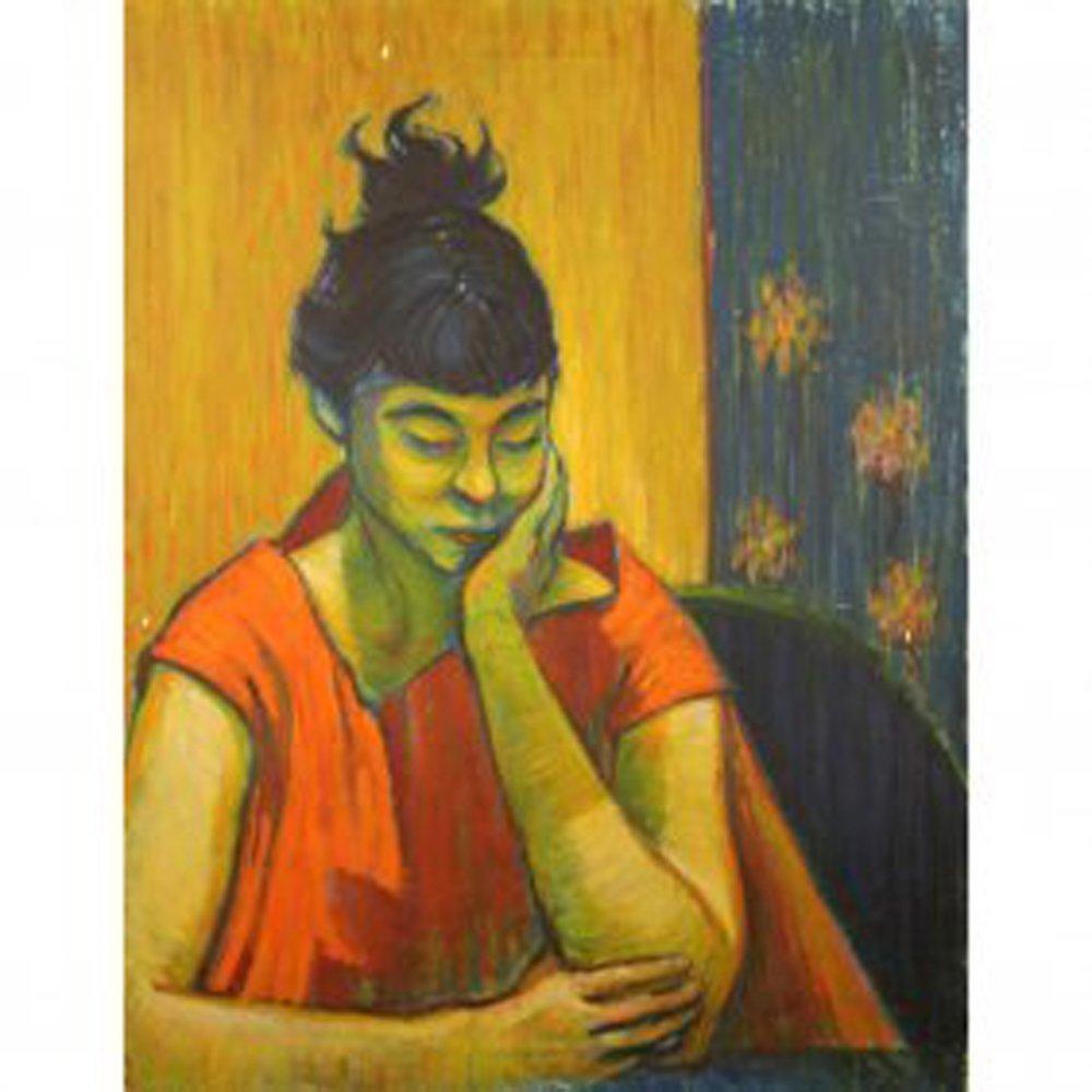 Bob Guccione Oil Painting 20x26 ca 1950's