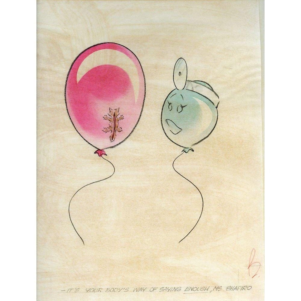 Original Balloonhead Illustration By Art Cummings 9x12