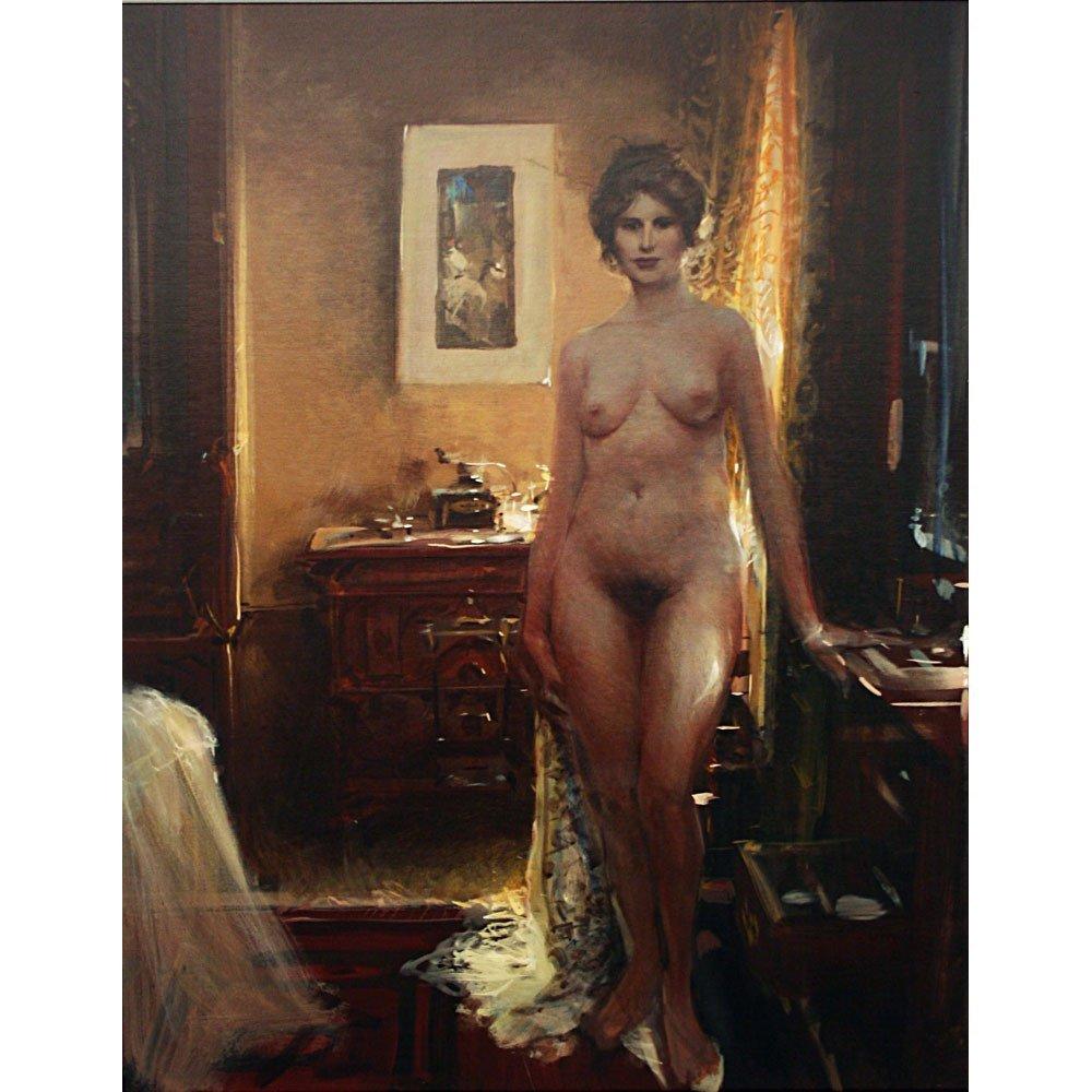 "Orig John Berkey ""Railway Hotel"" 21x27 Painting 1990"