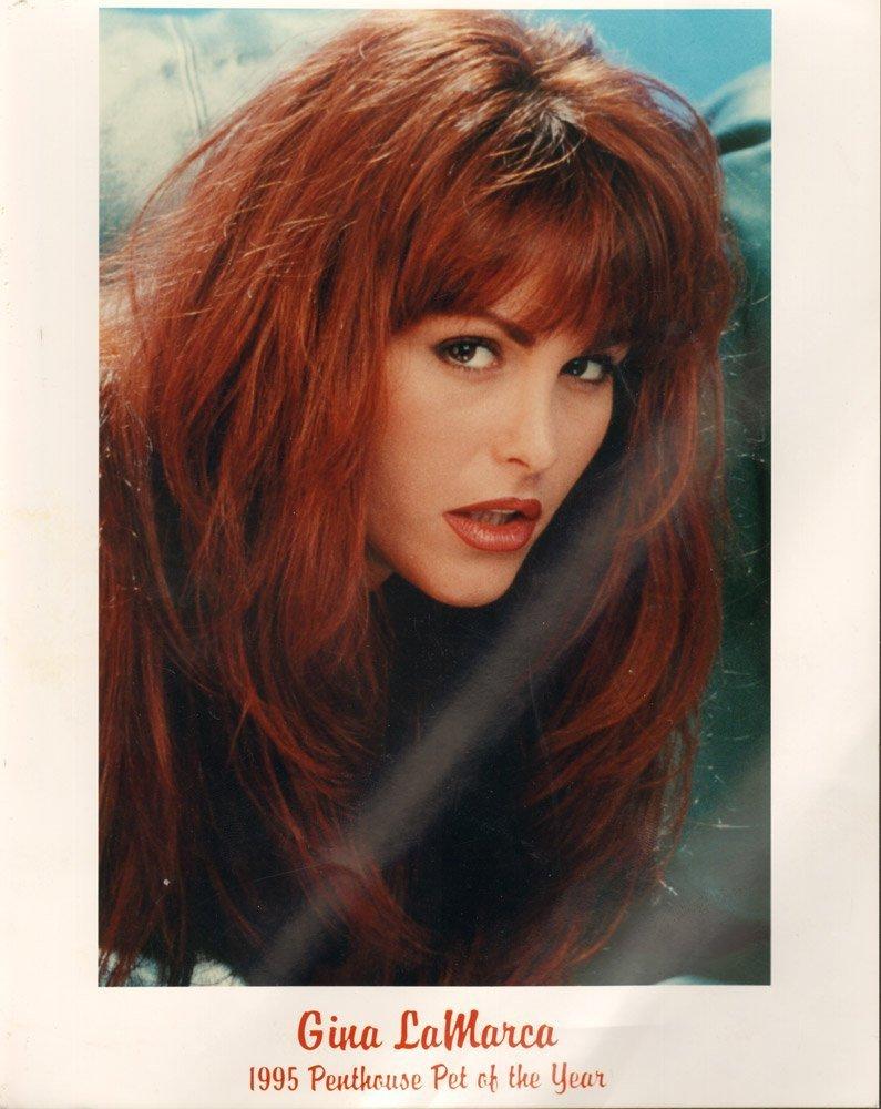 Orig Gina LaMarca 8x10 Head Shot w Signed Note to Bob G