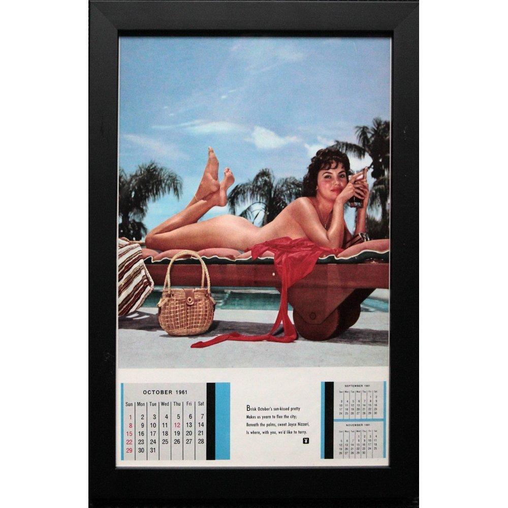 Framed Joyce Nizzari Oct 1961 Orig Playboy Calendar Pg