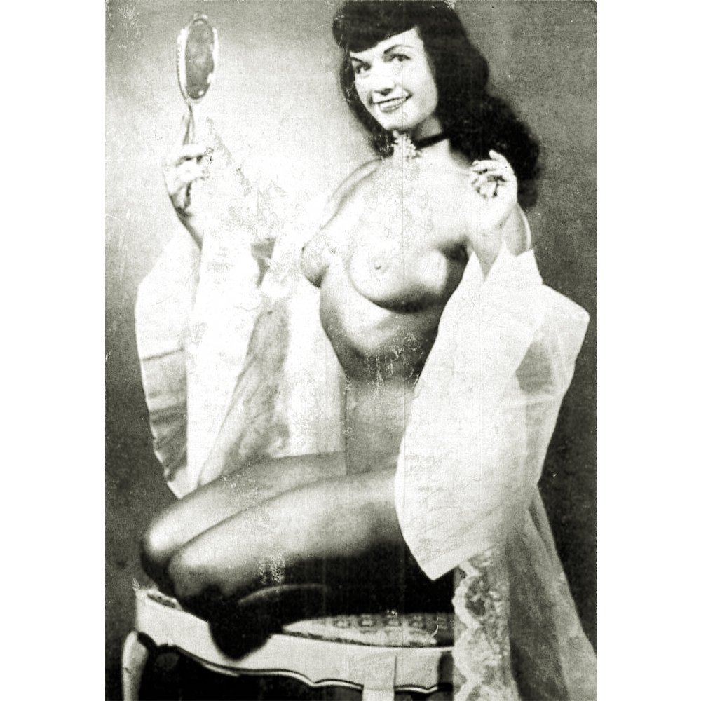 Original Betty Page Promotional 3.75x5.75 Card ca 1950s