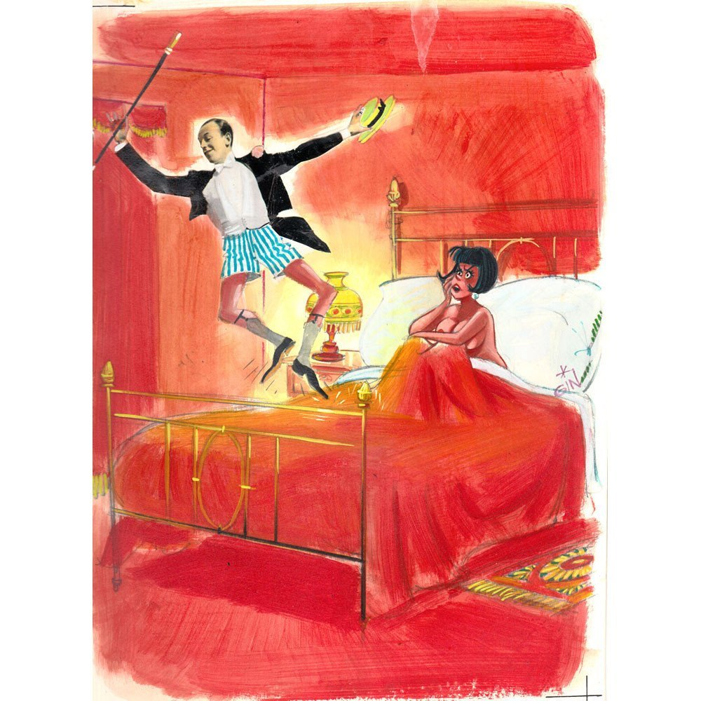 "Original Jordi Gines ""Love For Art"" #195 Cartoon 8.5x11"