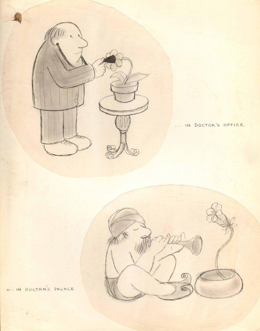 """Original Bob Guccione 11x14 Pen Sketch """"...In"""""""