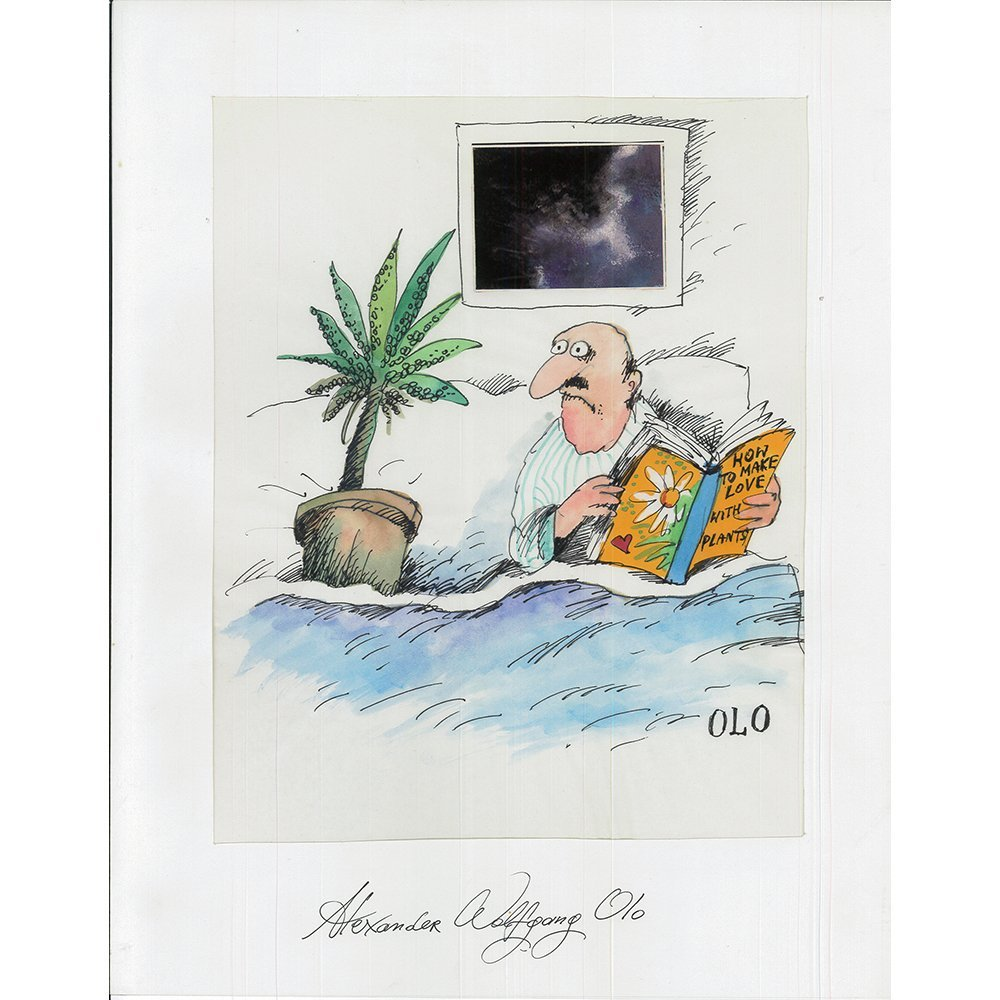 "Orig Alexander ""OLO"" Sroczynski Illustration 11x14"