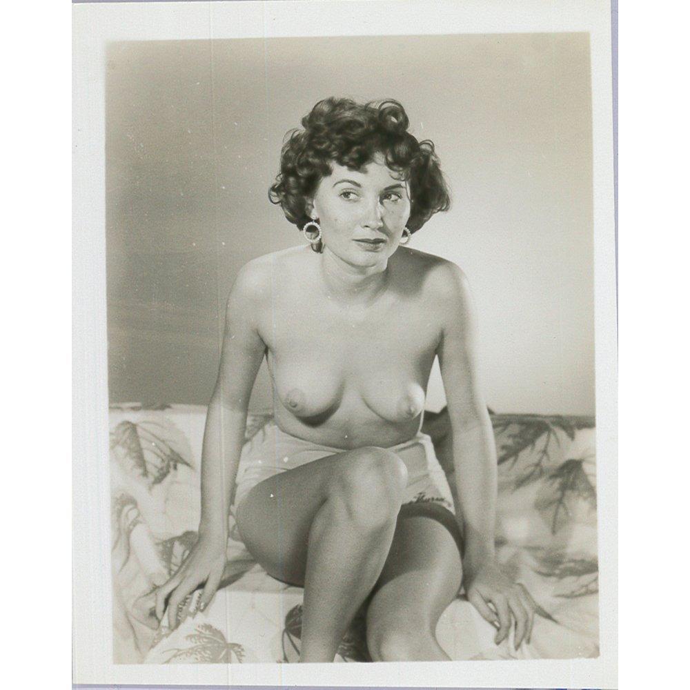 Original Silver Gelatin 1950's Cheesecake Print 3.5x5.5