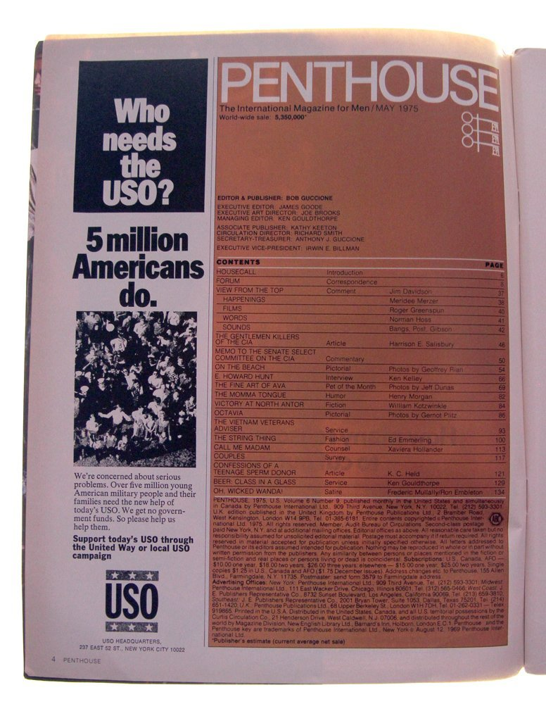 May 1975 Penthouse Mag Feat. Ava Gallay  (Ex) - 2