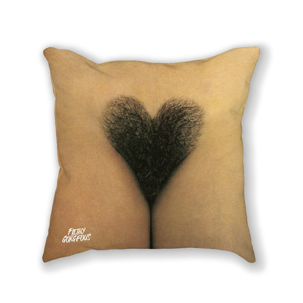 "Limited Edition ""Trimmed Hedges"" 18x18 Pussy Pillow"