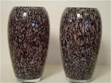 247: PAIR OF MURANO GLASS VASES CIRCA 1960'S CASED GLAS