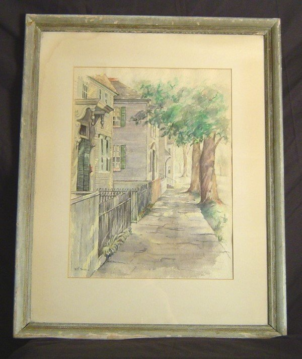 "21: WATERCOLOR SIGNED ""W.F. PASHKO"" 14"" X 19"" OF VICTOR"