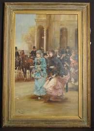 167: OIL ON PANEL, SIGNED ROMAN RIBERA, 19TH C PARIS ST