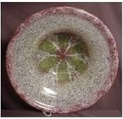 """257: LARGE WMF IKORA ART GLASS BOWL 14"""" DIAMETER IKORA"""