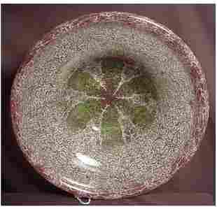 """LARGE WMF IKORA ART GLASS BOWL 14"""" DIAMETER IKORA"""