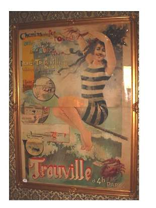 """VINTAGE FRENCH RAILROAD / RESORT POSTER 58"""" WIDE X"""