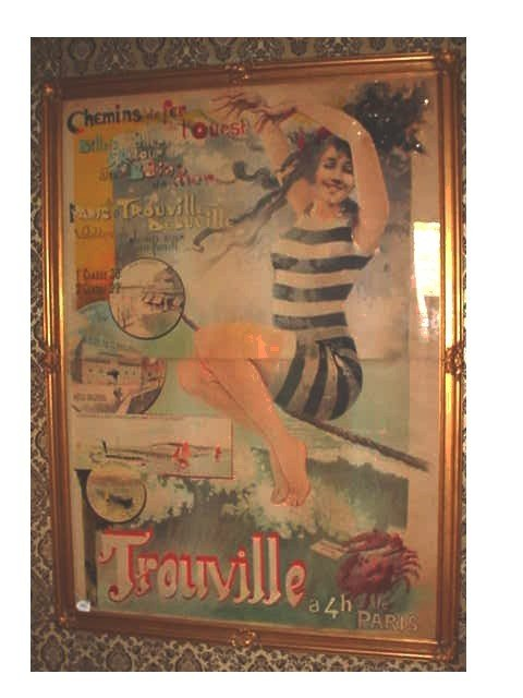 "262: VINTAGE FRENCH RAILROAD / RESORT POSTER 58"" WIDE X"