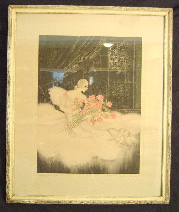 913: ART DECO ETCHING AND DRYPOINT, SIGNED ALLENE LAMOU